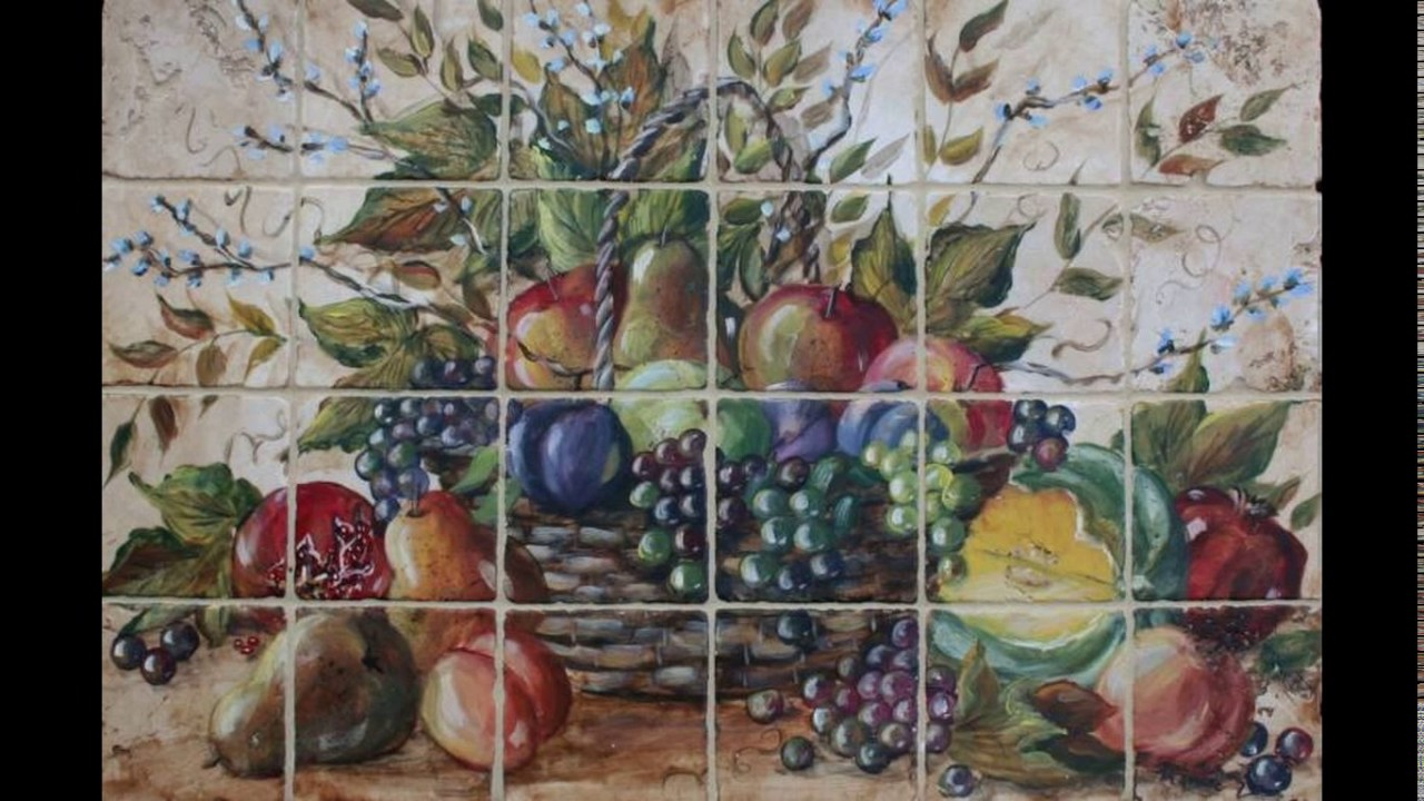 Kitchen Wall Tiles Fruit Design Youtube