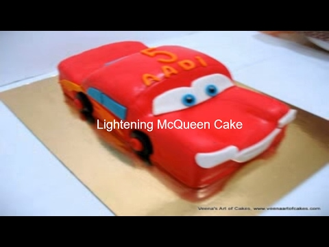 Car Cake Images Download : How to make a Lightening Mcqueen Cake - YouTube