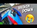Pushing an elderly couples broken down car! | Honda CBR 125r 2016