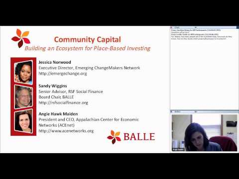 BALLE Webinar - Community Capital: Building an Ecosystem for Place-Based Investing - Apr. 2015