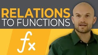 Algebra 1 - Going from relations to functions - Online tutor - Free math help