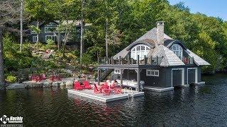 Custom Rustic Muskoka Cottage & Boat House