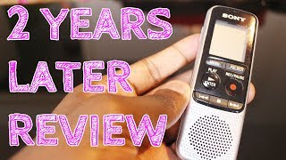 Sony ICD-BX140 Digital Mono 2 YEARS LATER REVIEW HVXC/MP3 Voice Recorder with 4 GB Built-In Memory