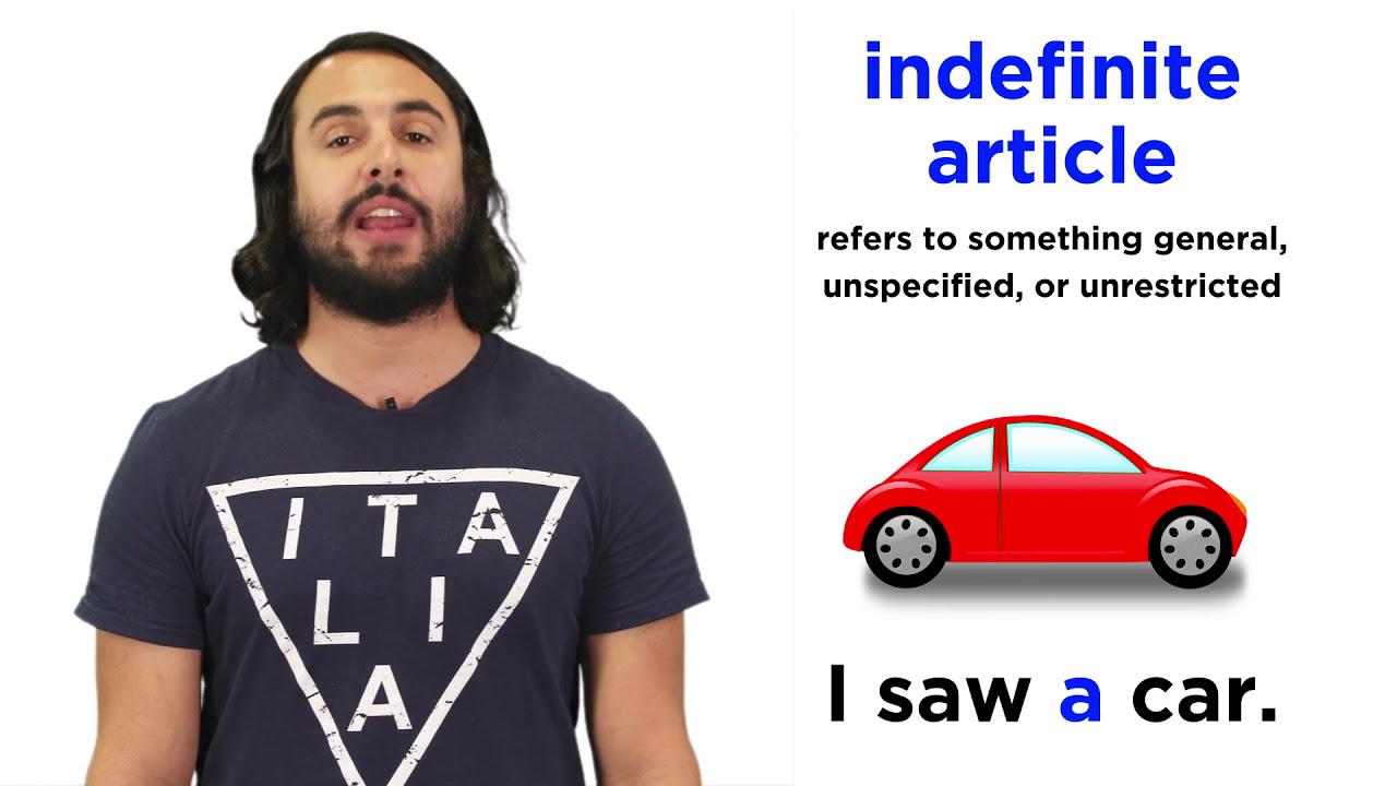 indefinite articles in italian youtube
