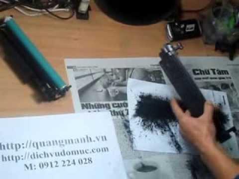 Hướng dẫn đổ mực máy in HP 1102, 1102W