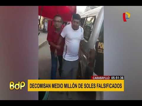 CARABAYLLO:  DIRIN  DECOMISA MEDIO MILLÓN DE SOLES FALSIFICADOS