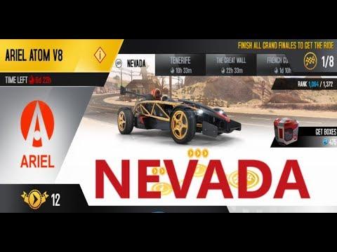 Asphalt 8 ARIEL ATOM V8 NEVADA HD ALL MAIN CHAMPIONSHIP