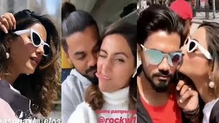 Hina Khan Romance With Boyfriend Rocky Jaiswal At Cannes 2019
