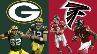 GREEN BAY PACKERS VS ATLANTA FALCONS PLAYOFF SIMULATION!! WOW!! (HIGHLIGHTS)