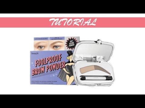 TUTORIAL: Foolproof Eyebrow Building Powder with Benefit Cosmetics