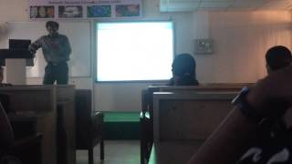 Dr. Rajeev Kumar Kapoor of Maharshi Dayanand University delivering an invited lecture at MDU