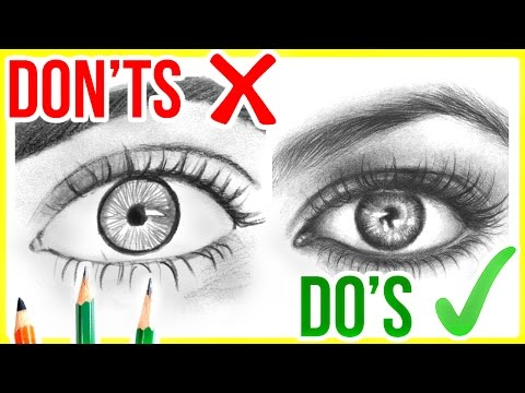 DO'S & DON'TS: How To Draw Realistic Eyes   Step By Step Drawing Tutorial
