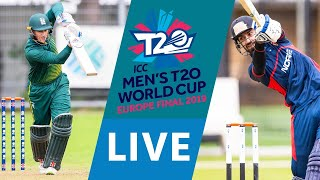 LIVE CRICKET - ICC Men's T20 World Cup Europe Final 2019 - Guernsey vs Norway. Starts 12.00 BST