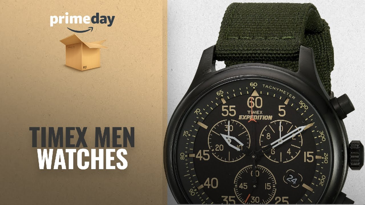a28ddff77926 Save Big On Timex Men Watches  Timex Men s TW4B10300 Expedition Field Chrono  Green Black Canvas