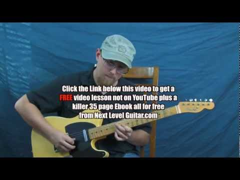 Country lead guitar lesson Merle Haggard arpeggio inspired soloing Mama Tried style