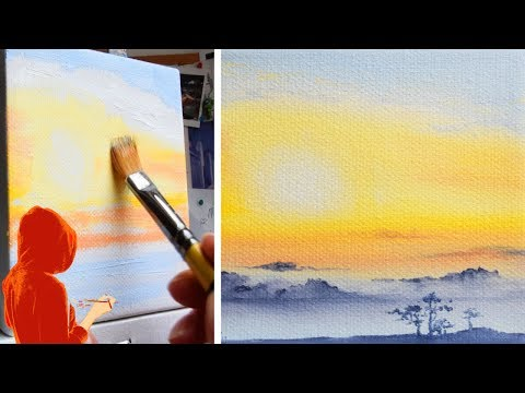 Landscape Painting Tutorial | Real Time