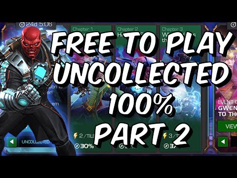 Free To Play Uncollected 100% Part 2 - Hydra Adaptoid & Red Skull - Marvel Contest Of Champions