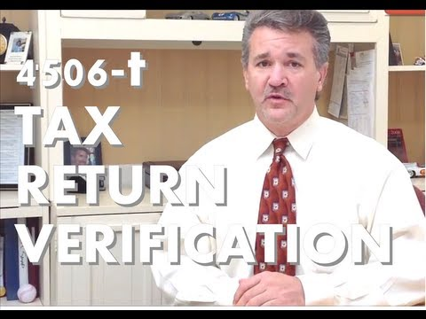 4506-t Mortgage IRS tax forms 4506t