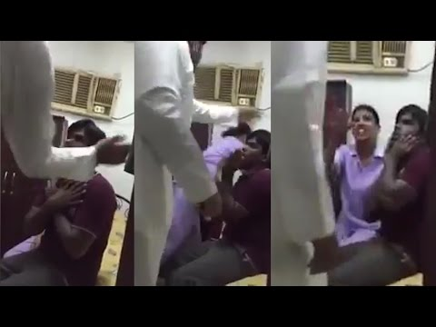 Saudi man beat Indian driver in front of his wife, watch video  | वनइंडिया हिन्दी