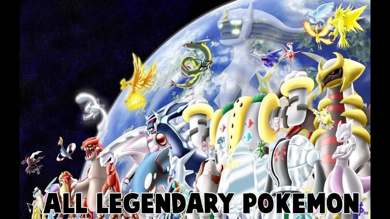 all legendary pokemon generations 1 6 youtube