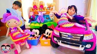 หนูยิ้มหนูแย้ม   เป็นแม่ค้าขายตุ๊กตา Pretend Play Shopping with Baby Dolls and Toys for Kids