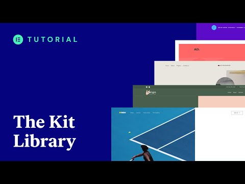 How to Use the Elementor Kits Library