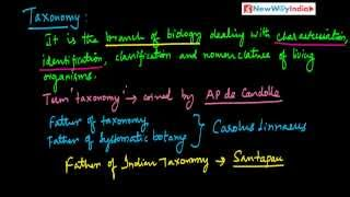 CBSE Class 11 - Biology Lessons - 005 - Taxonomy Taxa Category