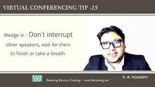 18 Virtual Conference Etiquette