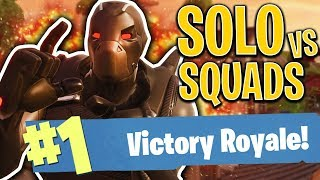 SOLO vs SQUADS VICTORY!! - FORTNITE BATTLE ROYALE!