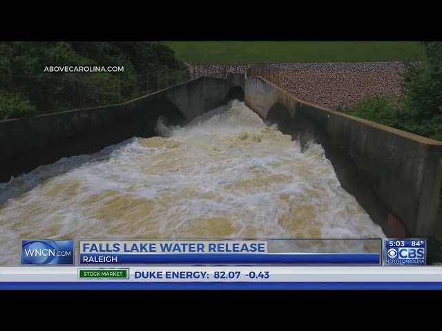 Neighbor worries as officials release water from Falls Lake into Neuse River