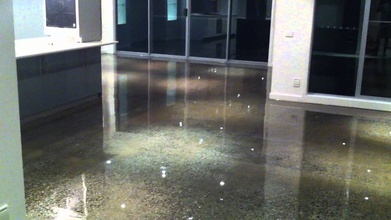 Clear Epoxy Over Concrete Floors Youtube