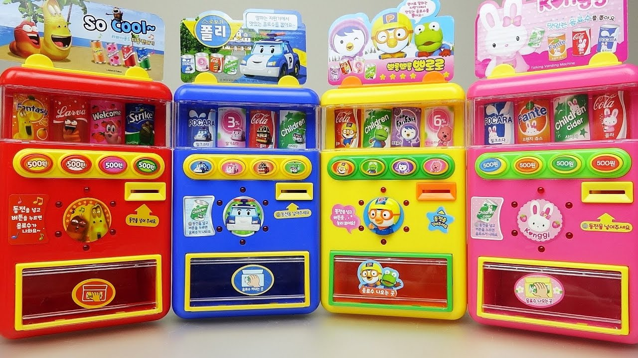 Baby doll and Poli car Pororo vending machine toys