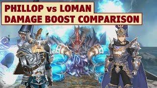 King's Raid - Phillop vs Loman Damage Boost Comparison