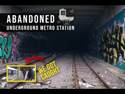 Urbex Abandoned Underground Metro Station - CAUGHT By The SECURITY!