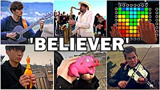 Who Played it Better: Believer Guitar, Sax, Pig, Chicken, Violin, Launchpad, Bass