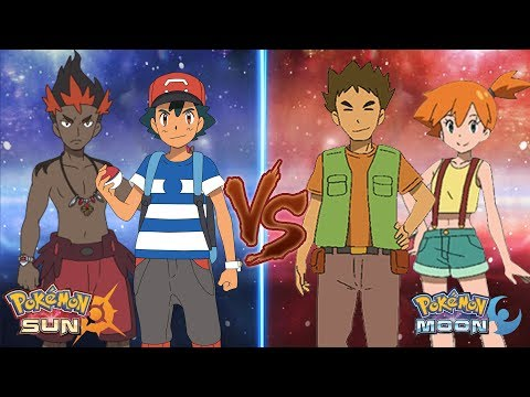 Pokem Sun and Mo: Ash and Kiawe Vs Brock and Misty