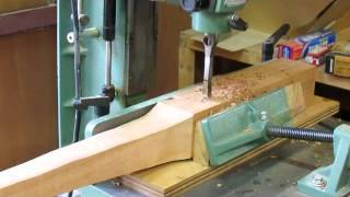 Curved Blockfront Dressing Table   Making Legs And Mortise   Step 4