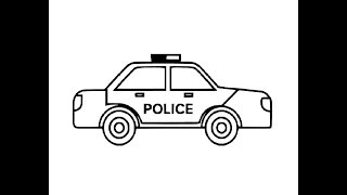 How to draw Police Car pencil drawing step by step