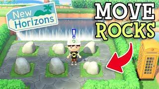Animal Crossing New Horizons: MOVE ROCKS (How To Arrange Island Rocks & Make a Rock Garden in ACNH)