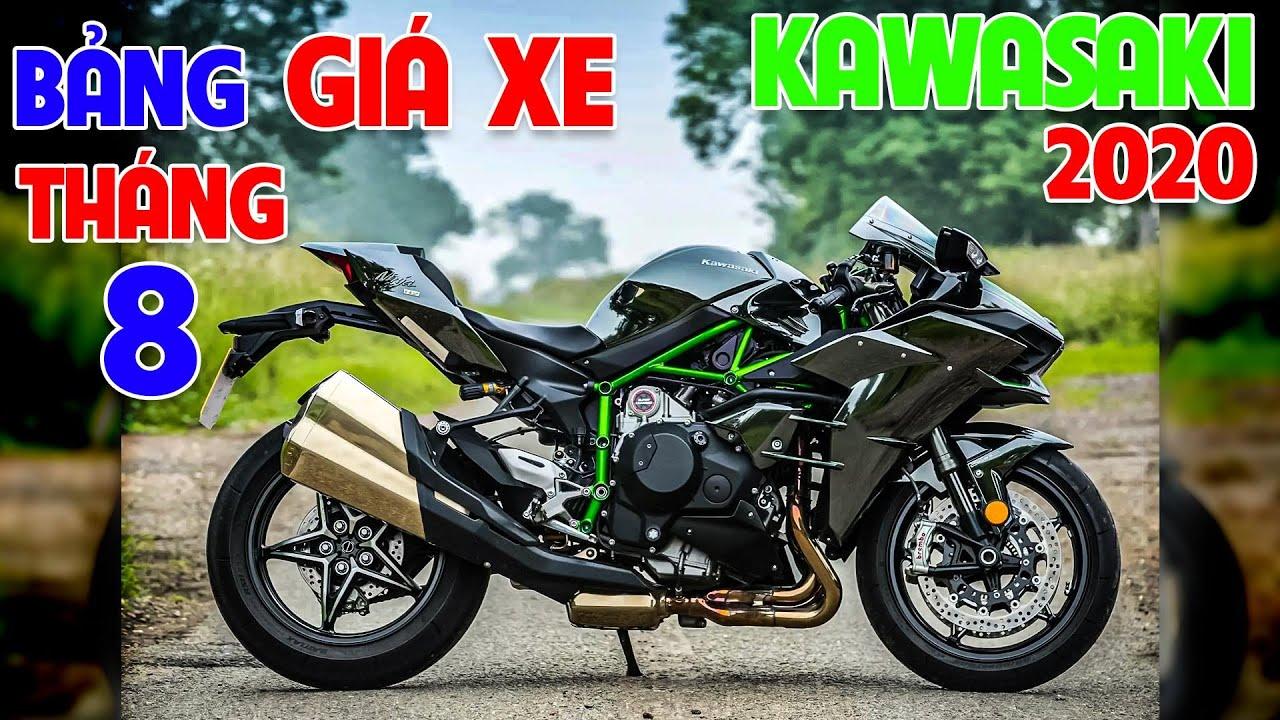 Giá các dòng xe của Kawasaki trong tháng 08/2020