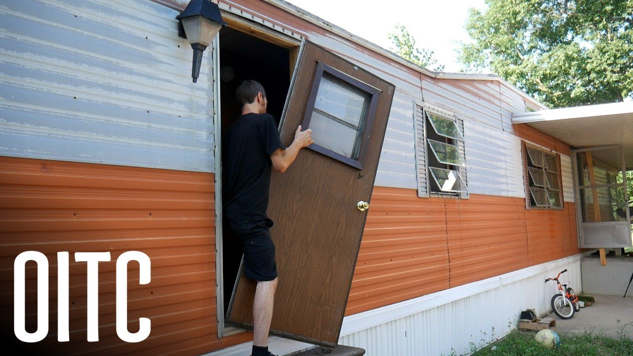the reality of replacing a mobile home door