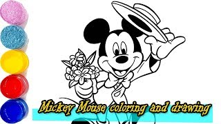 Mickey Mouse drawing and coloring  for Kids, Toddlers