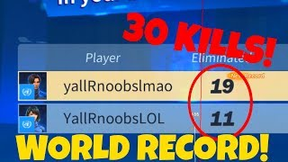 GETTING THE 30 KILL WORLD RECORD IN FORTNITE RIPOFF ROYALE! (Creative Destruction)