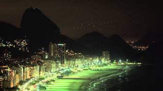 Panning Shot Of The Coastline In Rio De Janeiro, Brazil