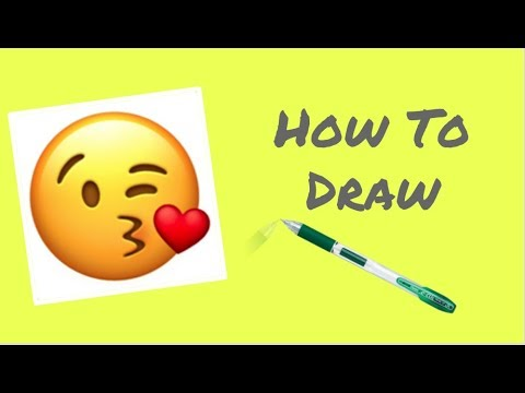 How To Draw The Blowing A Kiss Emoji // Easy-Step By Step