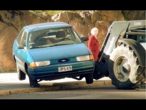Wrecking A Parked Car - PRANK