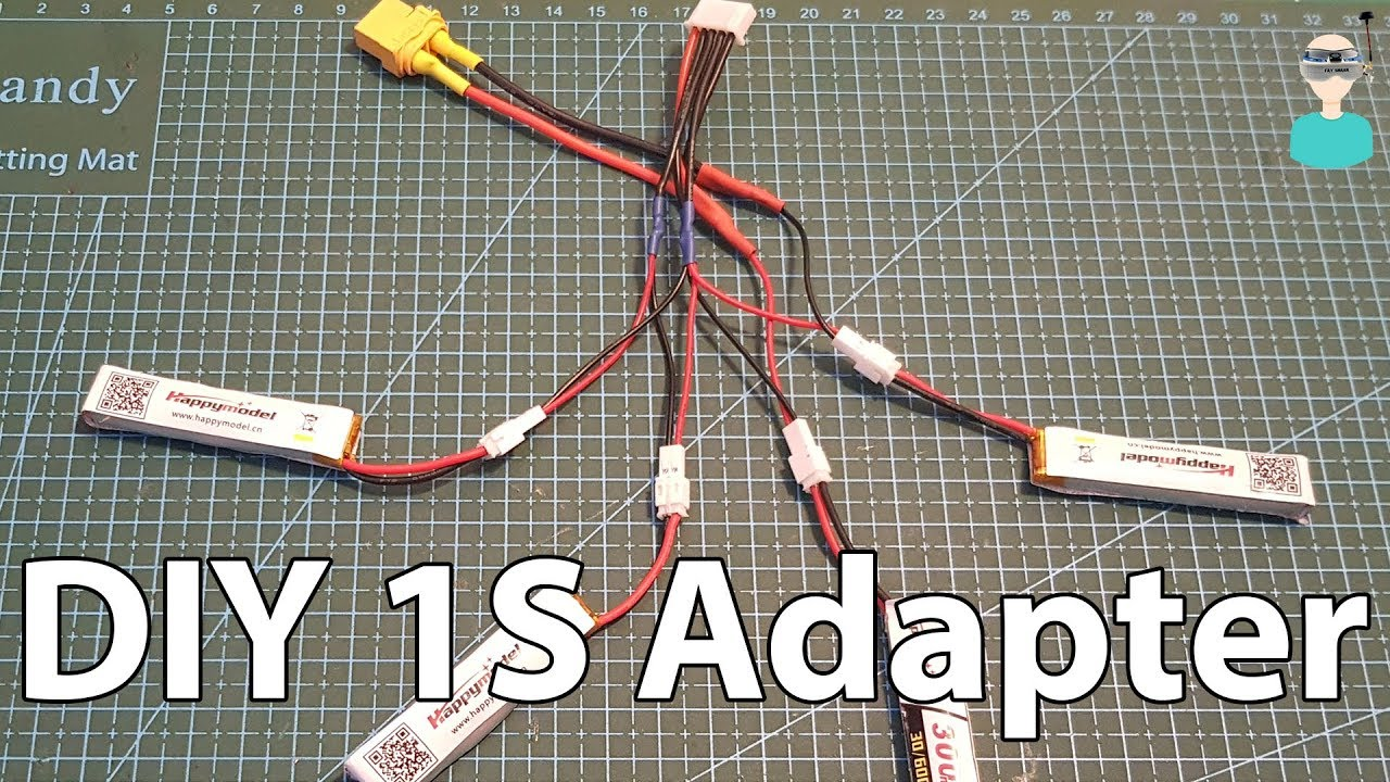 Diy 1s Lipo Battery Adapter Charge Multiple 1s Batteries Using Your Regular Charger Youtube