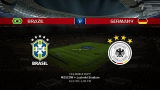 2018 FIFA World Cup Russia - Brazil vs Germany (World Cup Final Gameplay)