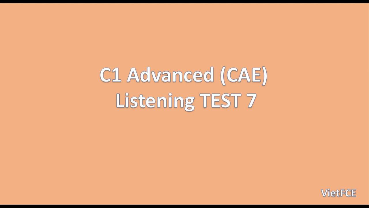 Listening C1, CAE Practice Test 2015 Plus 2, Test 5, Part 1
