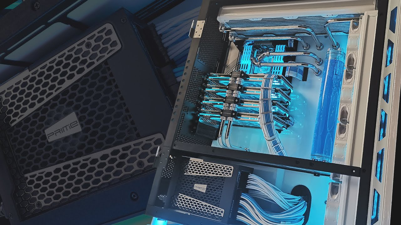 $11000 USD INSANE Editing PC - ft. Seasonic PRIME TX-1600W + 4 GPU!